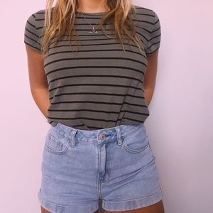 Striped forever 21 tee